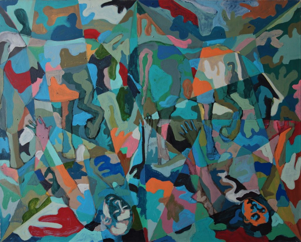 Blindsucht nach Caravaggio 80x100 2004