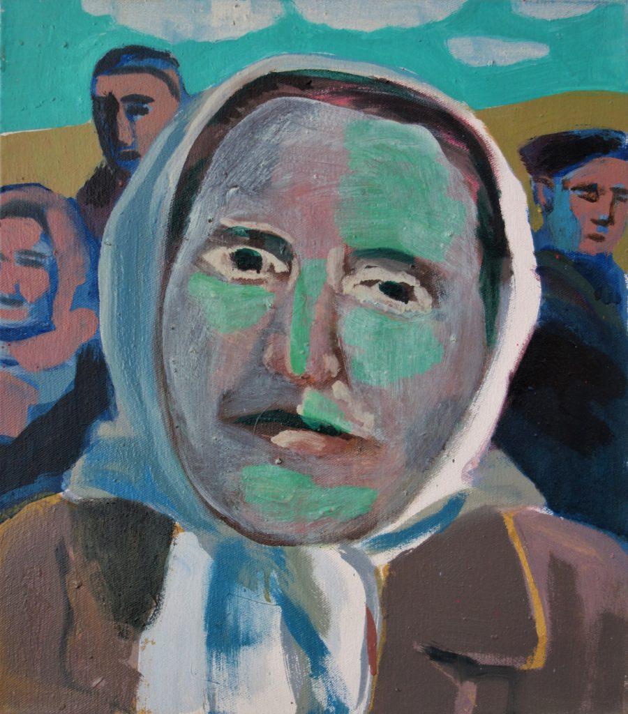 Magazinfoto Frau-mit-Kopftuch-Serie 40x35 2003