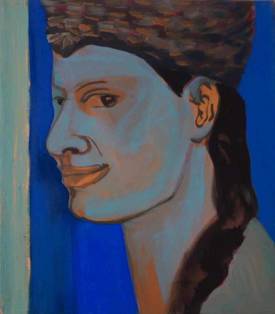 Portrait Katrin Roeber meine lebende Lieblingsmalerin 40x35 2003