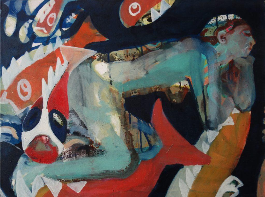 Pflaumenfische 45x60 2000